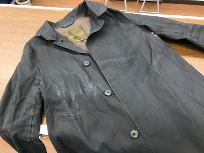 MACKINTOSH  マッキントッシュゴム引きコートクリーニング金沢市で高級ブランド品のクリーニングとシミ抜きの上手い店