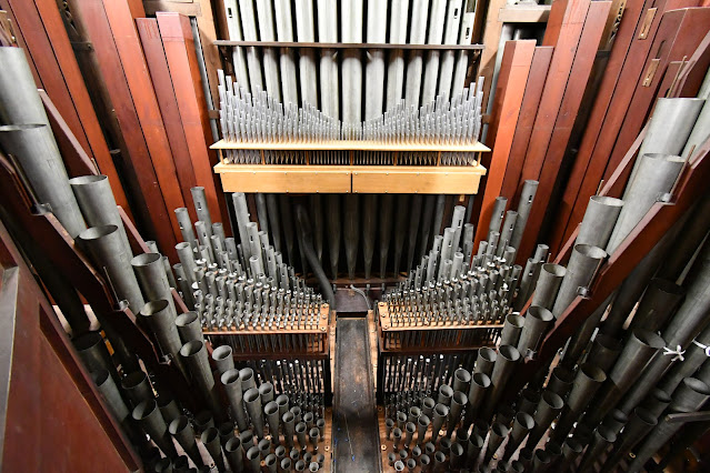 The organ at the church of Notre-Dame d'Auteuil in Paris