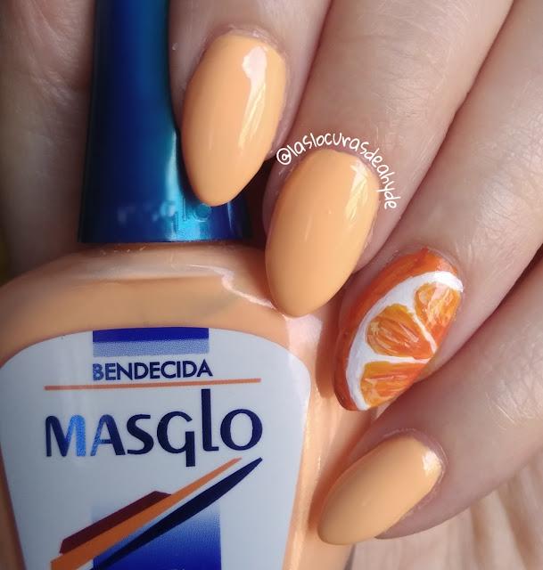 nail art naranja