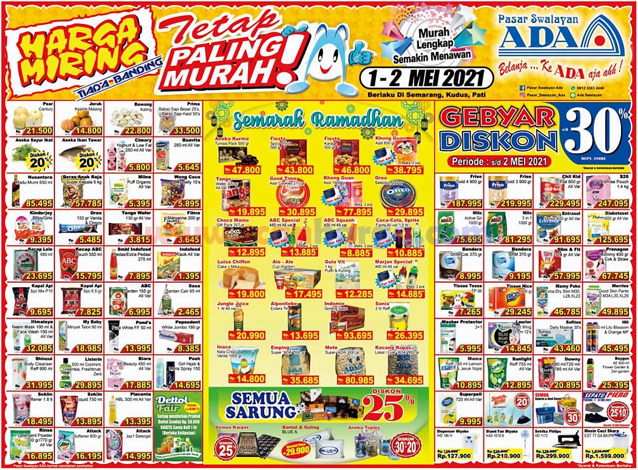 Katalog Promo ADA Swalayan Terbaru 1 - 2 Mei 2021