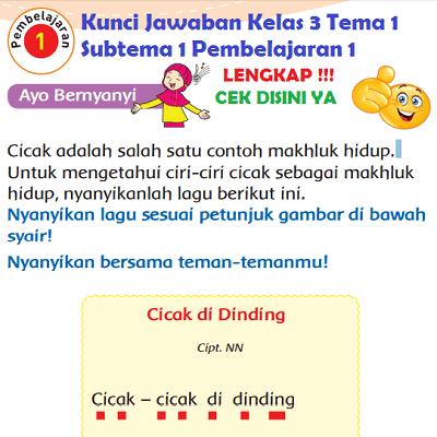 Kunci Jawaban Kelas 3 Tema 1 Subtema 1 Pembelajaran 1 www.simplenews.me