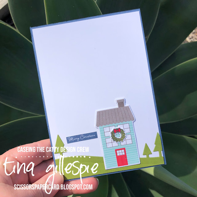 scissorspapercard, Stampin' Up!, CASEing The Catty, Coming Home Bundle, Trimming The Town DSP