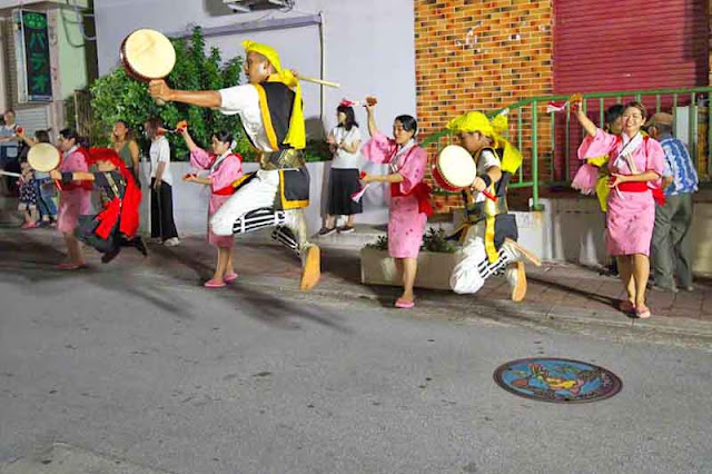 dance, drums, jumping, Eisa, Okinawa