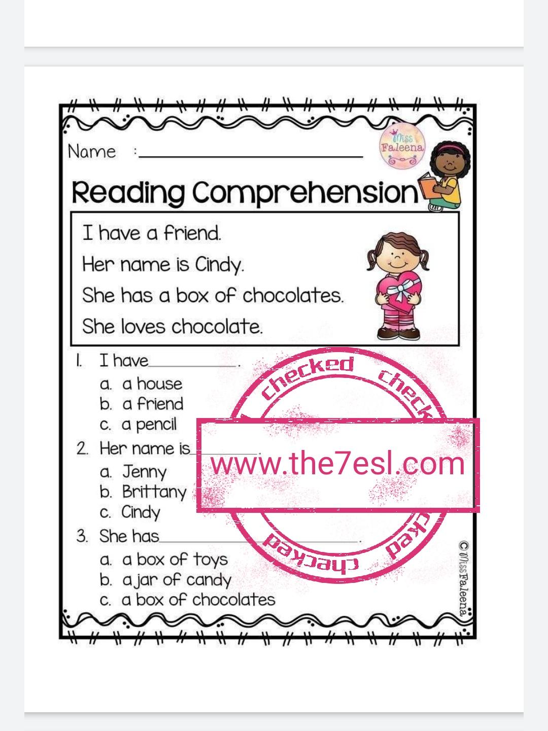 Reading Comprehension Worksheets Grade 2