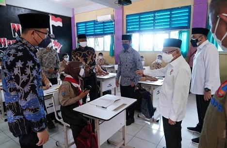 Wapres Tinjau Sekolah PTM SMA Negeri 19 Balaraja, Tangerang