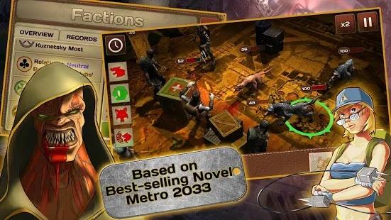 Metro 2033 Wars  Apk+Data Free on Android Game Download