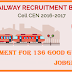 Railway Recruitment Cell Recruitment for 136 Goods Guard for Various Post Apply Now