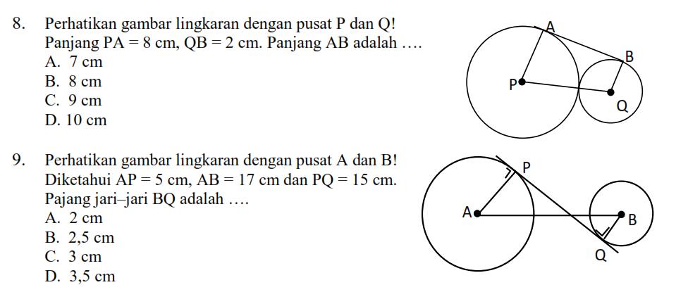 Latihan Soal Lingkaran Matematika