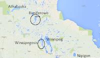 Jeziora Kanady - Athabaska, Reniferowe, nipigon, Winnipeg, Winnipegosis