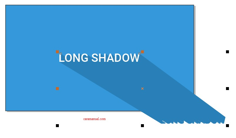 Memberikan Warna Pada Shadow di CorelDraw