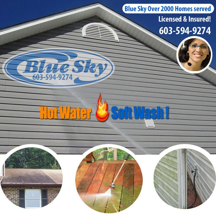 Manchester Pressure Washing with Blue Sky Service in New Hampshire