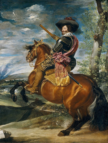 Диего Веласкес - Конный портрет Гаспара де Гусмана, графа-герцога Оливареса (ок.1635)