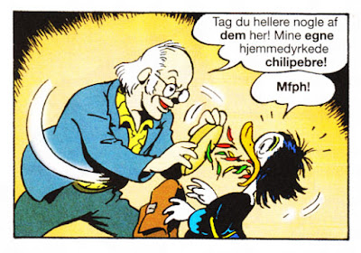 Don Rosa is shoving his homegrown chili in Magica's beak