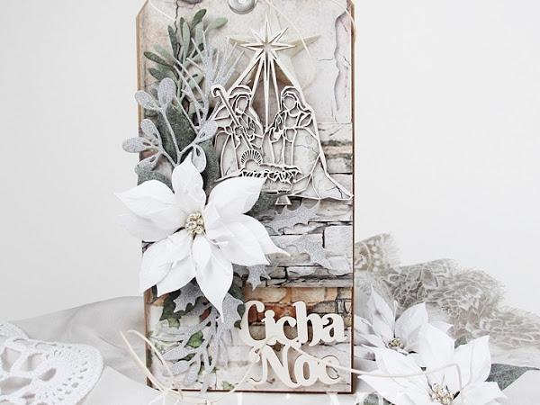 świąteczne życzenia - kartka tagowa