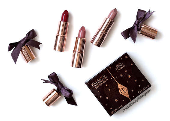 Charlotte Tilbury K.I.S.S.I.N.G Mini Lipstick Charms Review Swatches