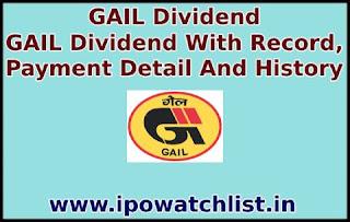GAIL dividend detail