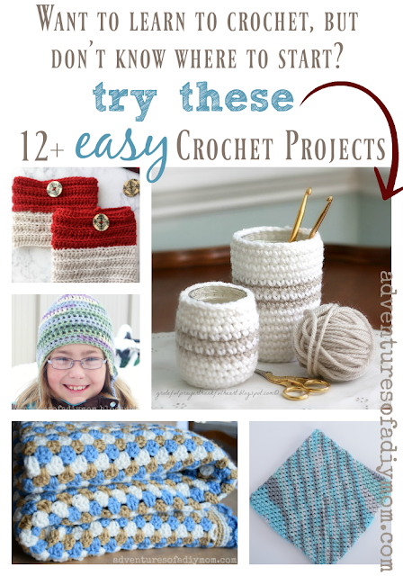 easy crochet patterns collage