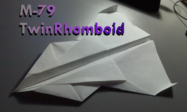 Avión de papel M-79 TwinRhomboid