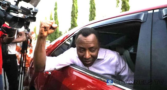 BREAKING: Sowore Regains Freedom (Video)