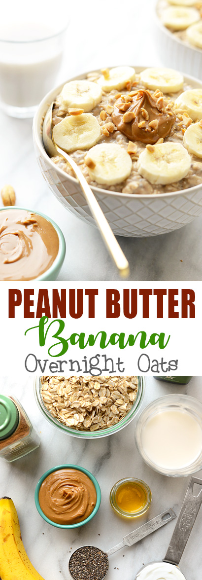 Delicious Peanut Butter Banana Overnight Oats