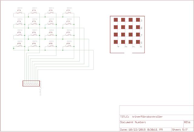 skema dan layout mikrokontroller AVR Atmega