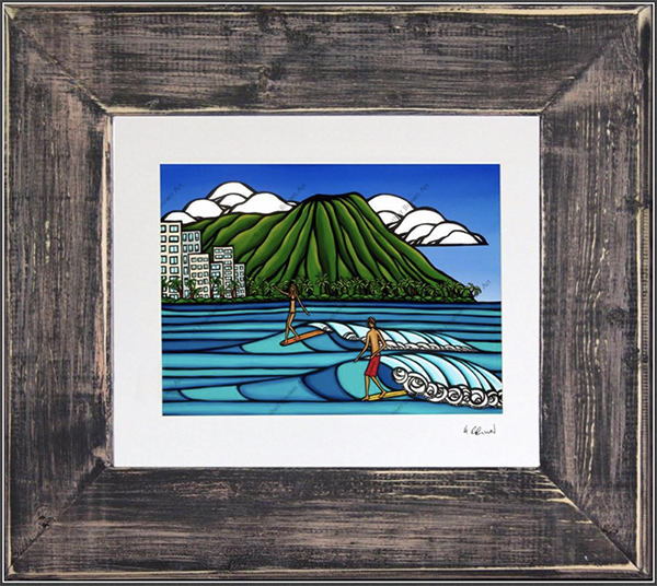 surf art Waikiki hawaii heather brown tropical beach fine art