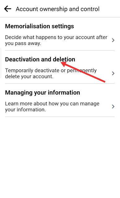 hwo to delete facebook account