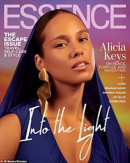 Alicia Keys glowed on the June cover of Essence