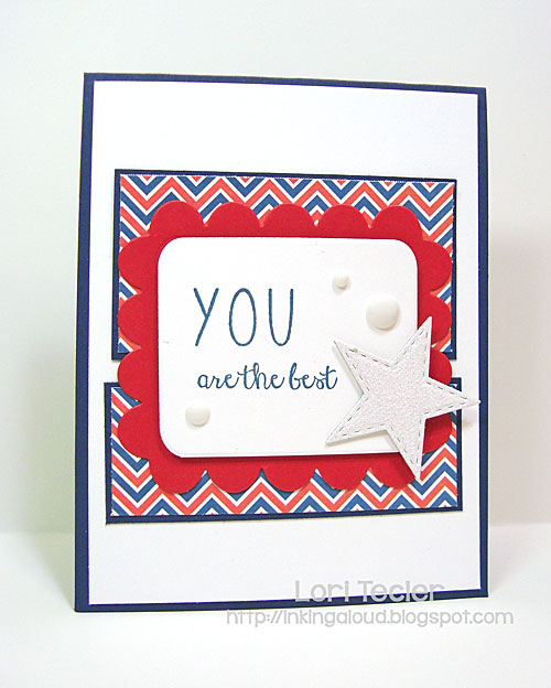 You Are the Best card-designed by Lori Tecler/Inking Aloud-stamps from Reverse Confetti