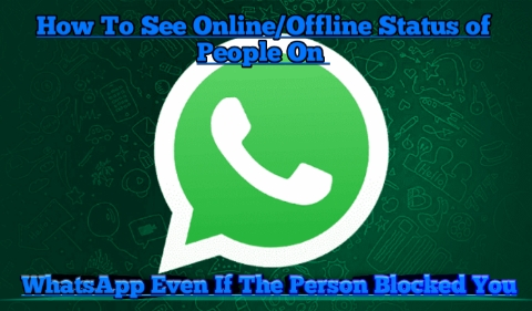 How To See Online/Offline Status of People On WhatsApp Even If The Person Blocked You
