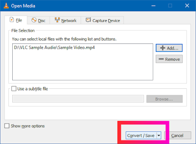 Croben.com Extract Audio Using VLC Step 6
