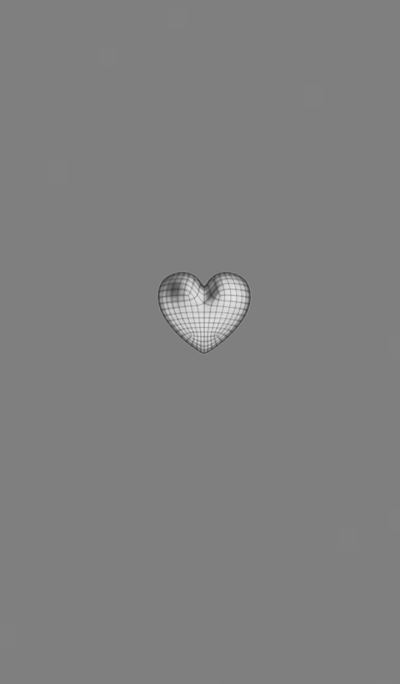 Wire Heart Gray