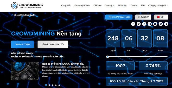 [SCAM] Review CrowdMining.Org – Đứa con lai của HYIP và ICO, lãi 3% mỗi ngày