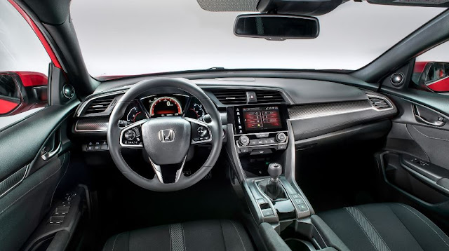 Interior del Honda Civic Hatchback 2017