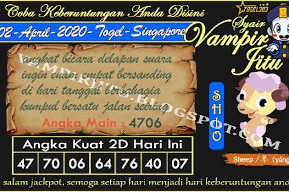 Syair Vampir Jitu Togel SGP Kamis 02 April 2020