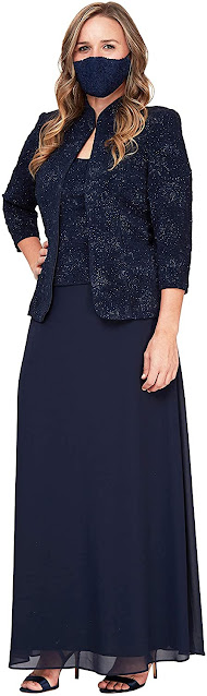 Good Quality Navy Blue Mother of The Groom Dresses