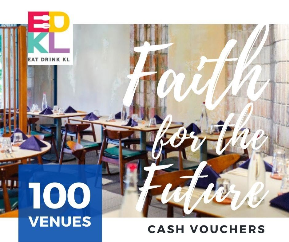 edkl faith for the future: cash vouchers at 100 restaurants & retailers