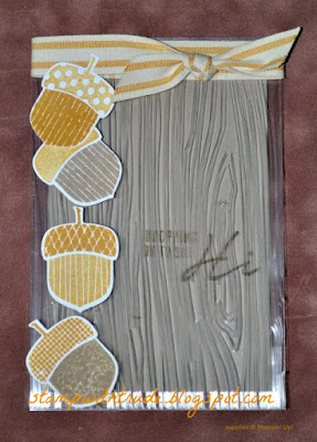 Tuesday Tutorial, Trude Thoman, Stampin' Up!, Acorny Thank You, Greeting card, fall, autumn, Thanksgiving, Clear card