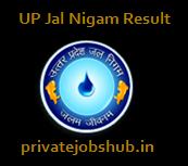 UP Jal Nigam Result