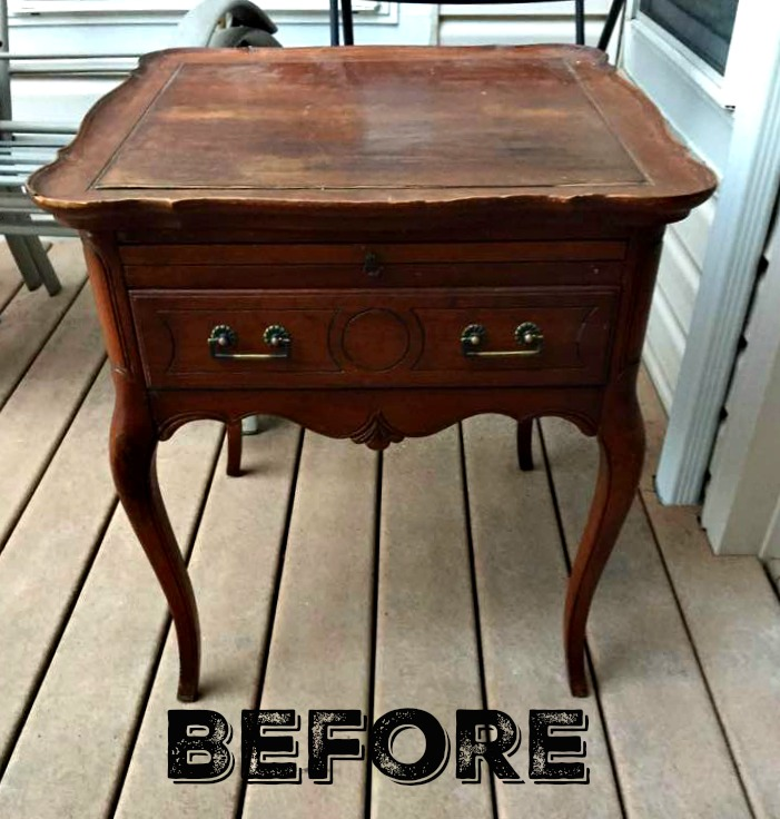 Before: Queen Anne style side table