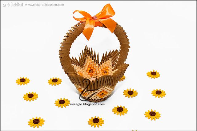 541. Koszyczek z origami / 3d origami basket