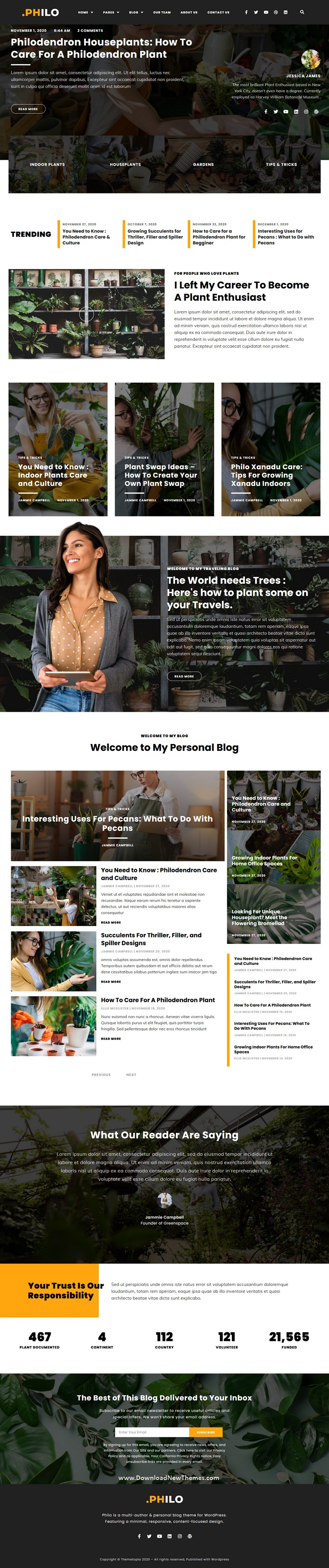 Plant Enthusiast Blog Elementor Template Kit