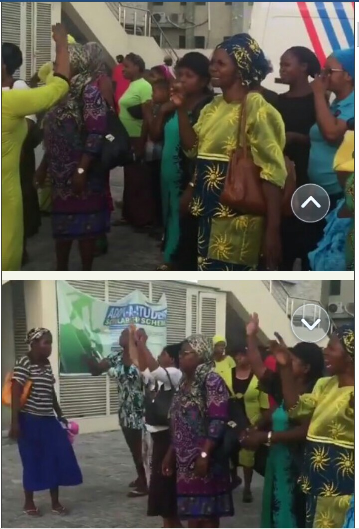 This Video Shows Some Mountain Of Fire Mfm Church Members Trying To Use Serious Prayers To Quench Fire Burning An Lg Showroom At Lekki Yesterday