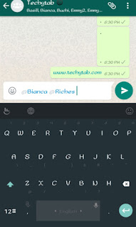whatsapp tag feature
