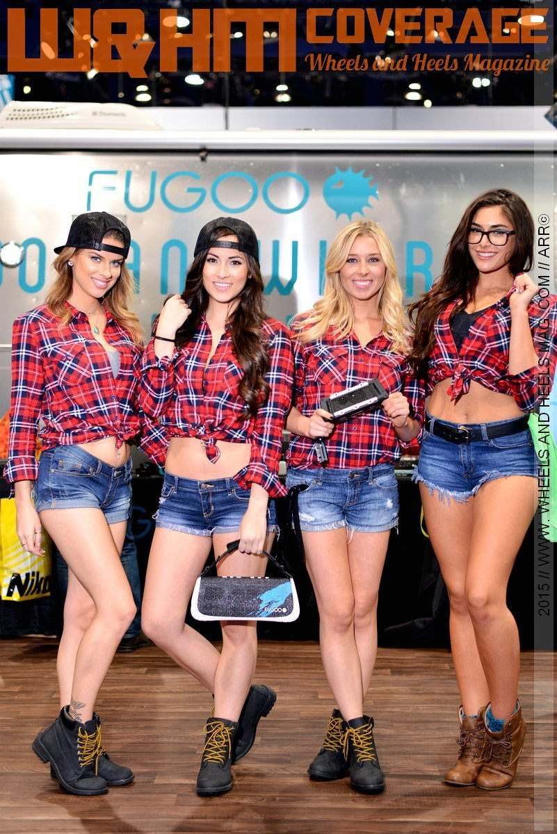 2015 CES: at the Fugoo booth, Skye McDonald, Erica Nagahima, Jenna, and Nikki Howard had the most fun in the entire 2015 CES show