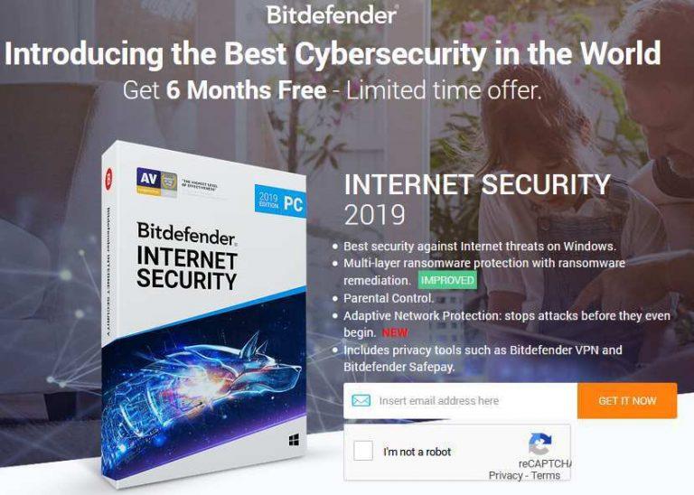 برنامج الحماية بيتدفندر إنترنت سيكيوريتي 2019 مجاني 6 أشهر مفتاح الترخيص