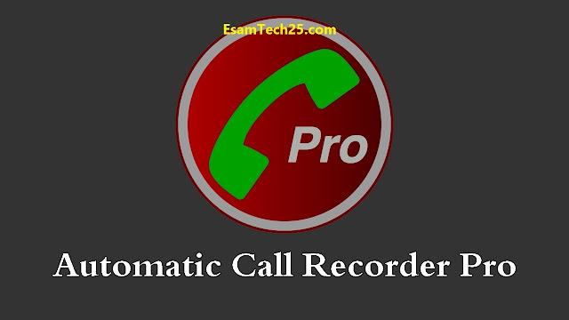 تسجيل المكالمات Automatic Call Recorder pro