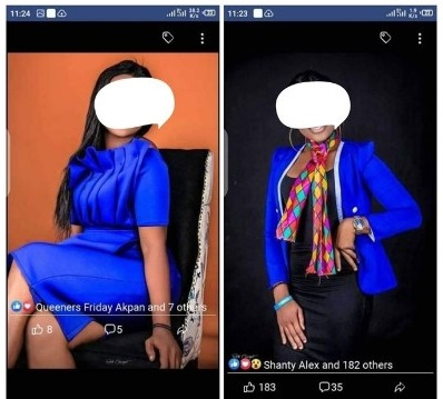 Two Nigerian Ladies Fight Over A Man On Facebook (Photos)