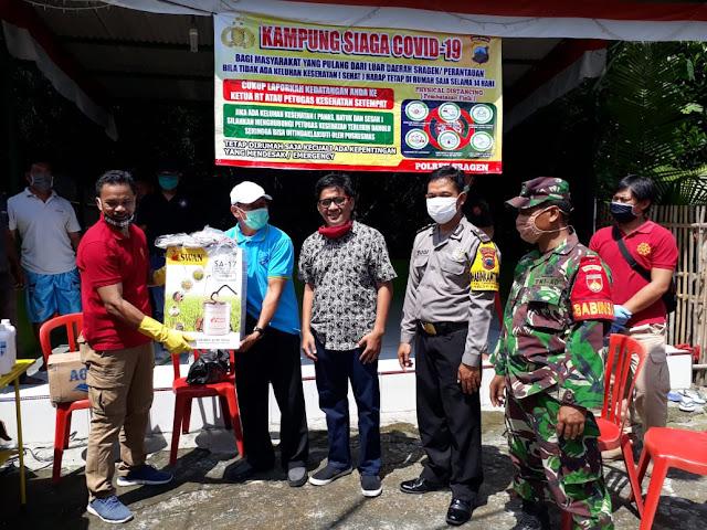 Kodim Sragen - Mojo Kulon Jadi Kampung Siaga Covid -19