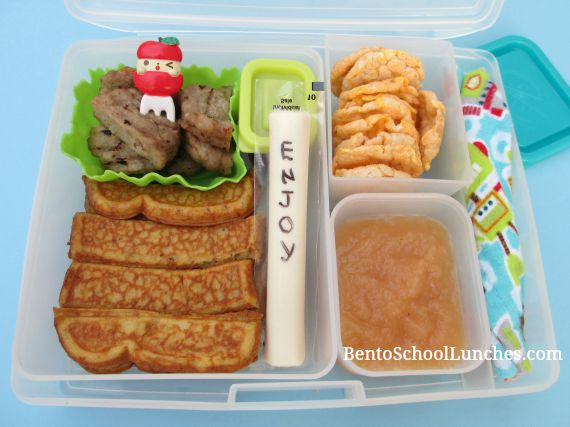 French toast breakfast for lunch. BentoSchoolLunches.com